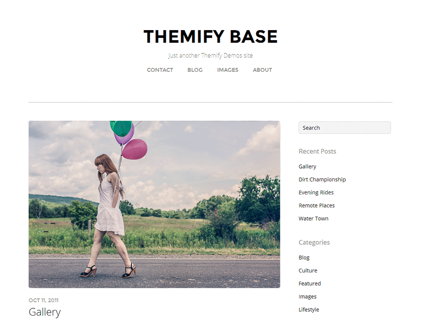 Themify Base - a simple minimal responsive theme which comes with many layout and customization options.