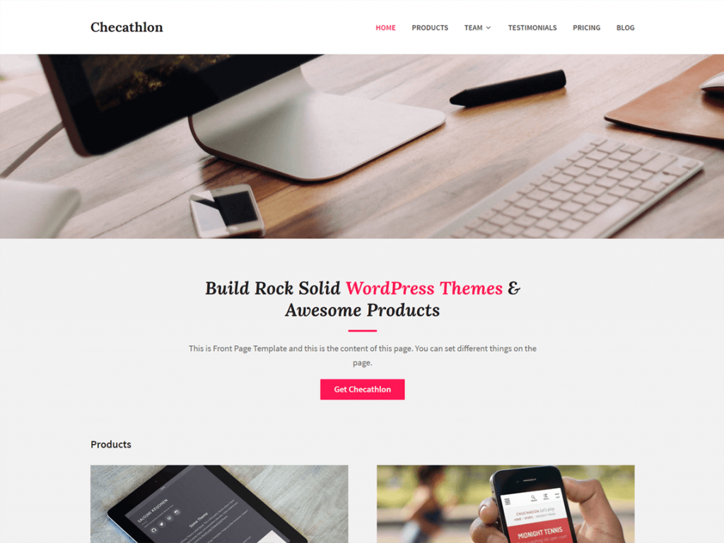 Checathlon free WordPress theme