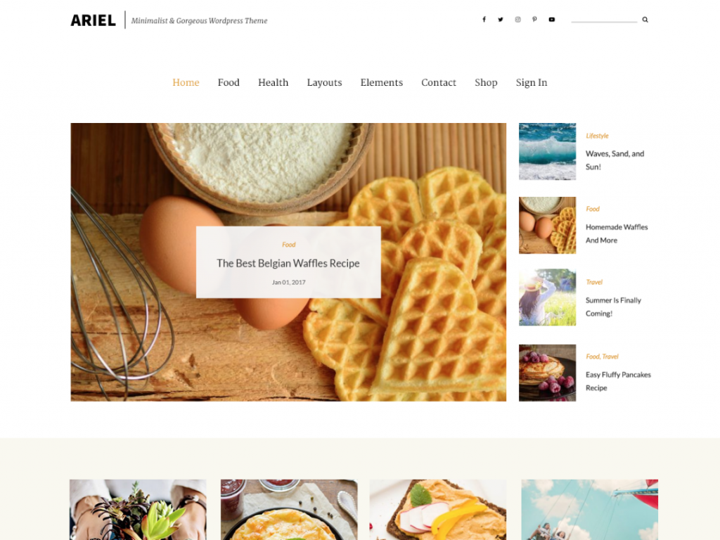 Arial free WordPress theme