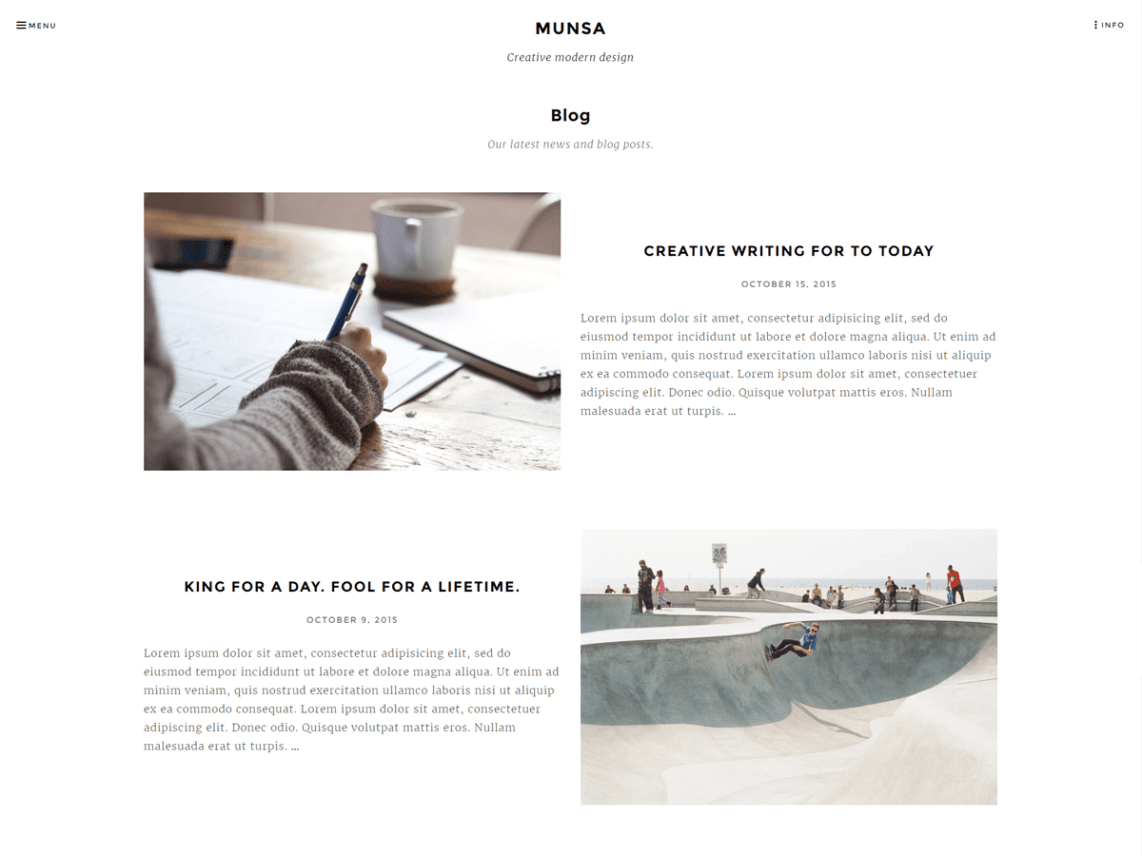 Munsa Lite free WordPress theme