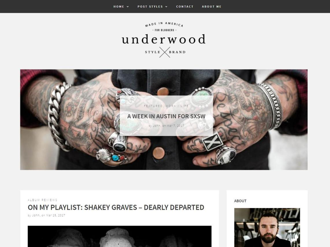 Underwood free WordPress theme